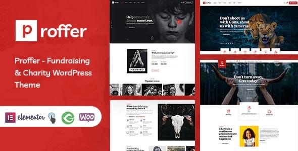 Proffer 1.0 – Fundraising & Charity WordPress Theme