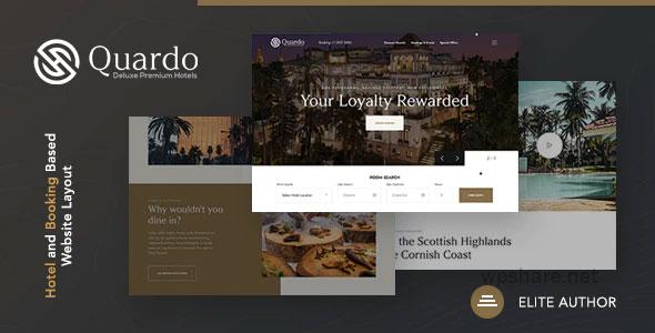 Quardo 1.0.0 – Deluxe Hotels WordPress Theme