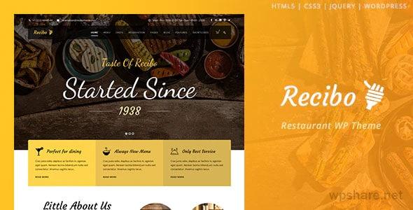 Recibo 1.3.3 – Restaurant WordPress
