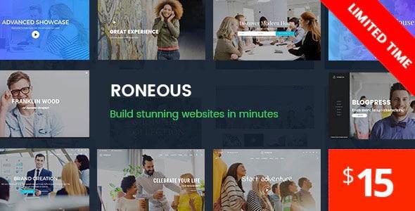 Roneous 1.8.7 – Creative Multi-Purpose WordPress Theme