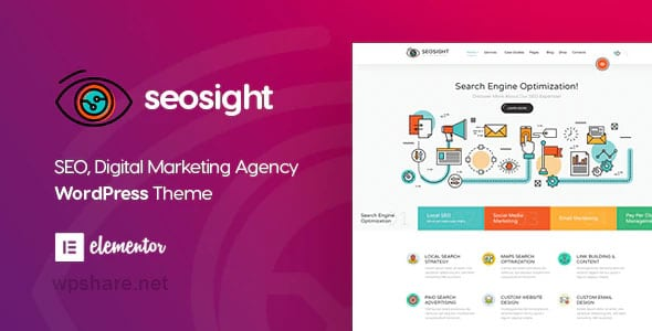 Seosight 5.0.1 – Digital Marketing Agency WordPress Theme