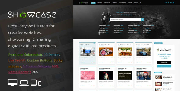 Showcase 3.3 – Responsive WordPress Grid / Masonry Blog Theme