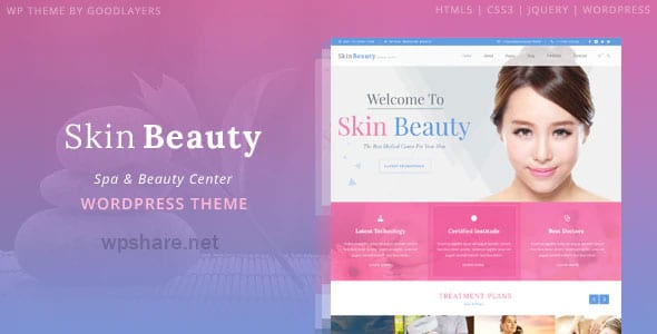 Skin Beauty 1.3.2 – Beauty, Spa, Salon WordPress Theme