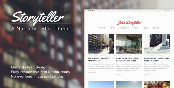 Storyteller 1.5 – A Narrative WordPress Blog Theme