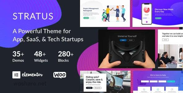 Stratus 4.1.3 – App, SaaS & Software Startup Tech Theme
