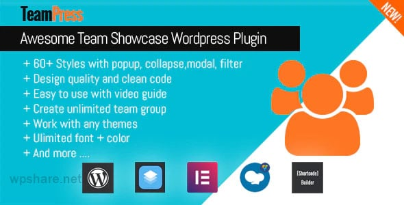 TeamPress 1.4.5 – Team Showcase plugin