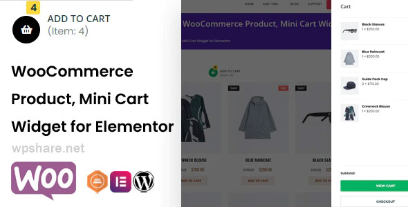 TFMiniCart & Product 1.0.3 – WooCommerce Product, Mini Cart Widget for Elementor
