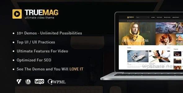 True Mag 4.3.8 – WordPress Theme for Video and Magazine