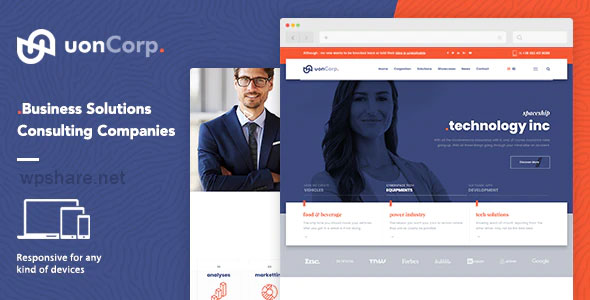 Uon Corp 1.0 – Company and Business Consultation WordPress Theme