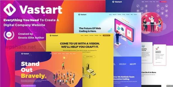 Vastart 1.2.47 – Digital Company & Startup WordPress Theme