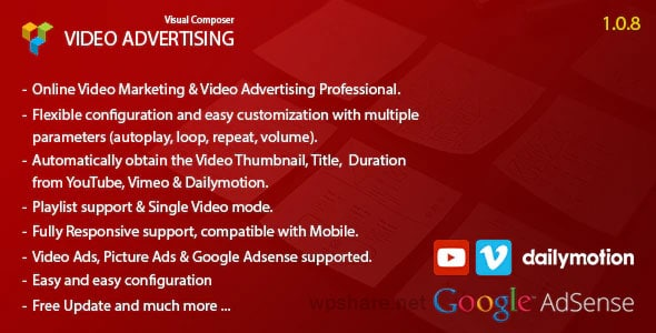 Video Advertising Addon For Visual Composer v1.0.8