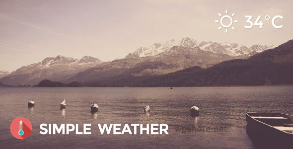 Weather 4.4 – Simple WordPress Shortcode & Widget