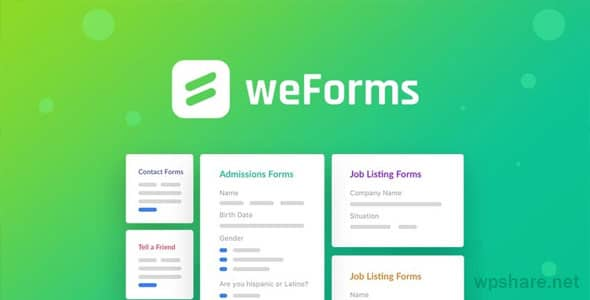 weForms Business 1.3.15 – Contact Forms for WordPress Plugin