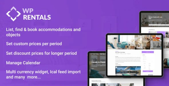 WP Rentals 3.2.1 – Booking Accommodation WordPress Theme
