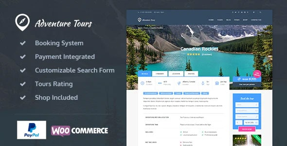 Adventure Tours 4.1.6 – WordPress Tour/Travel Theme