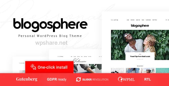 Blogosphere 1.0.7 – Multipurpose Blogging Theme