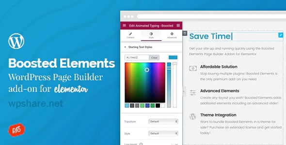 Boosted Elements 4.5 – WordPress Page Builder Add-on for Elementor