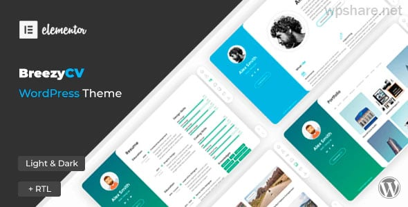 BreezyCV 1.5.1 – CV Resume Theme