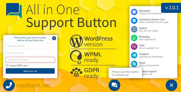 All in One Support Button v2.0.4