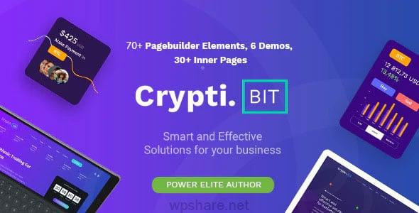 CryptiBIT 1.3.1 – Technology, Cryptocurrency, ICO/IEO Landing Page WordPress theme