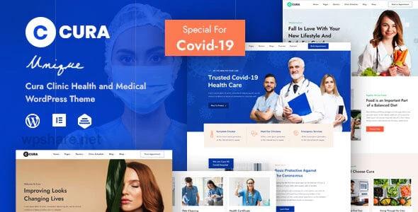 Cura 1.0.1 – Medical Clinic Theme