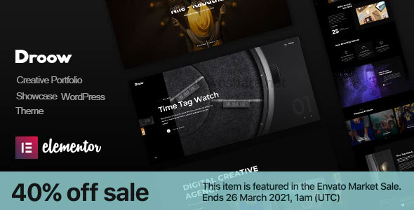 Droow 1.2.0 – Ajax Portfolio WordPress Theme