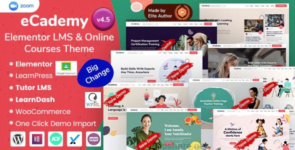 eCademy 4.7 – Elementor LMS & Online Courses Theme
