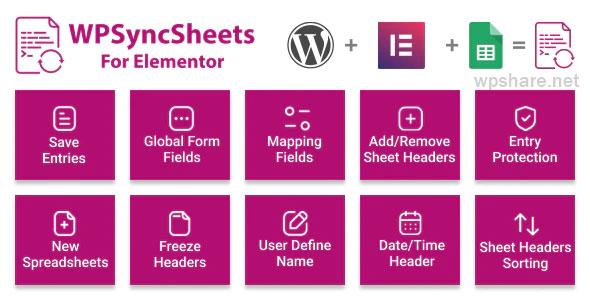 WPSyncSheets For Elementor 3.2 – Elementor Pro Form Google Spreadsheet Addon