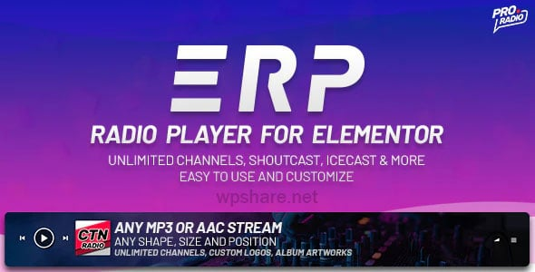 Erplayer 1.0.6 – Radio Player for Elementor