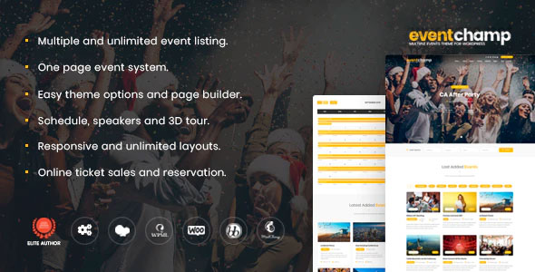 Event Champ 2.0.4 – Multiple Event & Conference