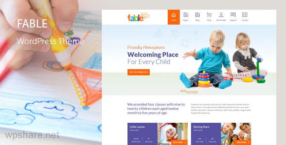 Fable 3.8 – Children Kindergarten WordPress Theme