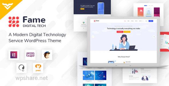 Fame 1.3 – Digital Technology/Service WordPress Theme