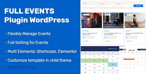 FullEvents 1.0.1 – Event Plugin WordPress