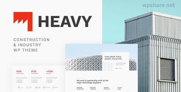 Heavy 1.0.3 – Industrial WordPress Theme
