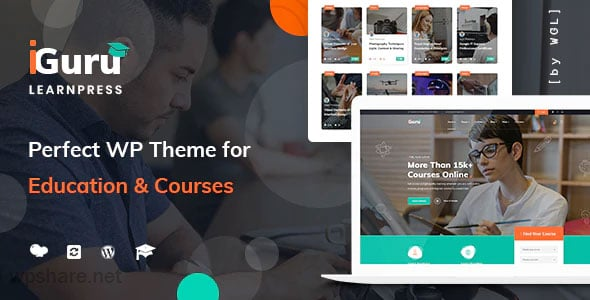 iGuru 1.1.6 – Education & Courses WordPress Theme