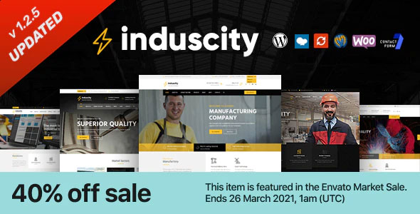Induscity 1.2.6 – Factory and Manufacturing WordPress Theme