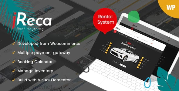 Ireca 1.3.4 – Car Rental Boat, Bike, Vehicle, Calendar WordPress Theme