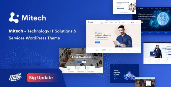 Mitech 1.5.3 – Technology IT Solutions & Services WordPress Theme