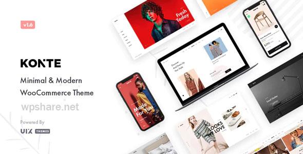 Konte 1.9.1 – Minimal & Modern WooCommerce WordPress Theme