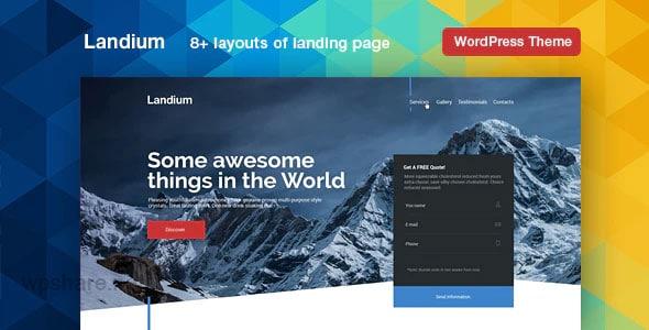 Landium 2.2.9 – WordPress Landing Page