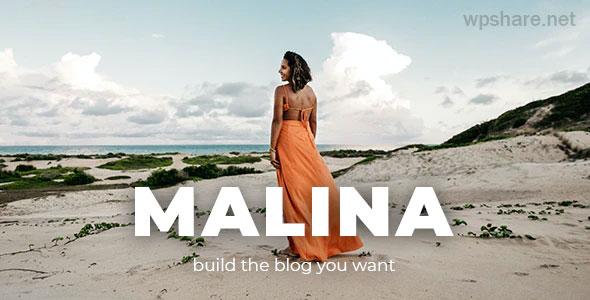 Malina 2.2.1 – Personal WordPress Blog Theme