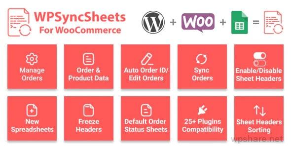WooSheets 6.4 – Manage WooCommerce Orders with Google Spreadsheet