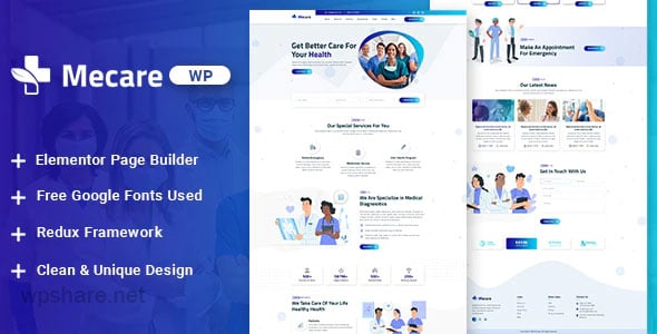 Mecare 1.0 – Hospital and Health WordPress Theme