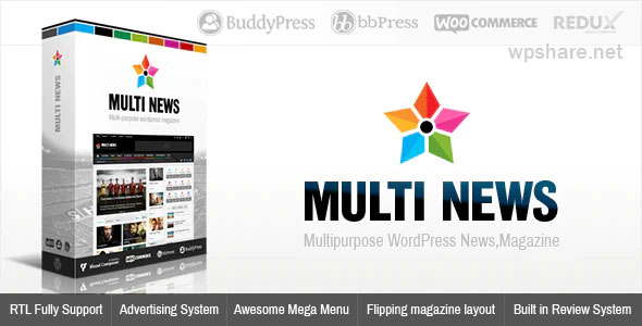 Multinews 2.8 – Magazine WordPress Theme