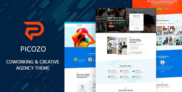 Picozo 1.5 – Coworking and Office Space WordPress Theme