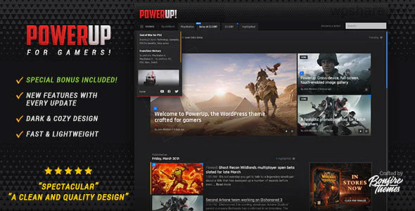 PowerUp 1.7 – Video Game Theme for WordPress