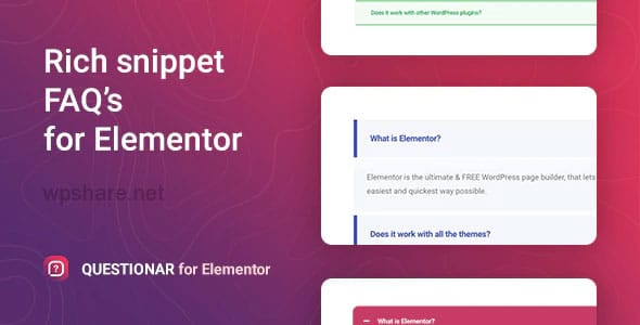 Questionar 1.1.2 – FAQ Accordions for Elementor