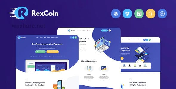 RexCoin 1.2.1 – A Multi-Purpose Cryptocurrency & Coin ICO WordPress Theme