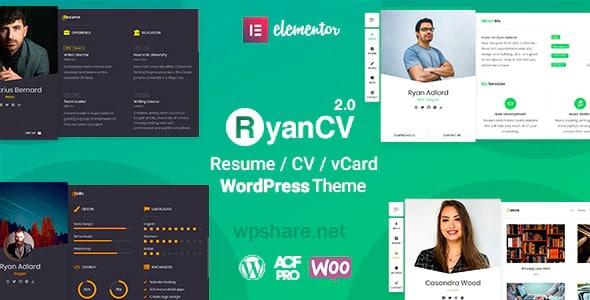 RyanCV 2.1.2 – CV Resume WordPress Theme
