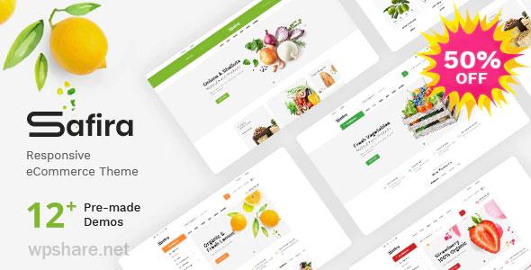 Safira 1.0.7 – Food & Organic WooCommerce WordPress Theme